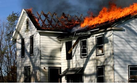 Electrical problems can cause house fires