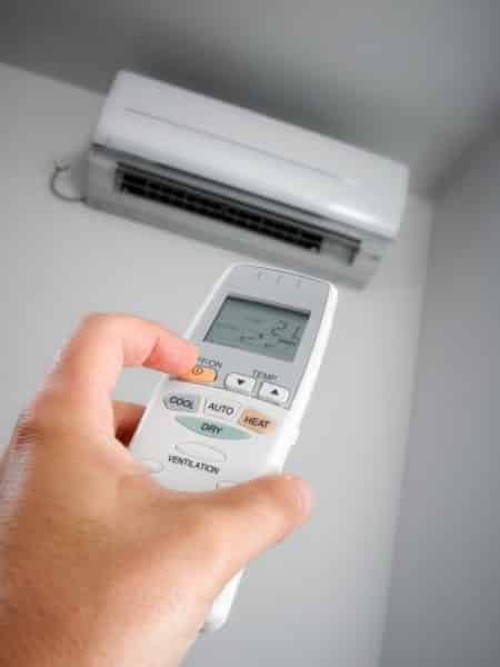 Reverse cycle air conditioner vs electric heater