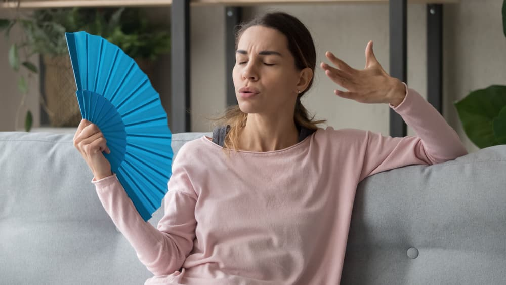 woman struggling in heat