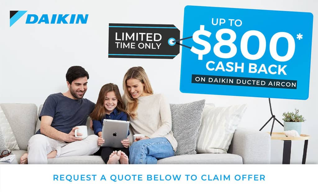 Daikin Cashback Offer Promotion - Crown Power Air Conditioning